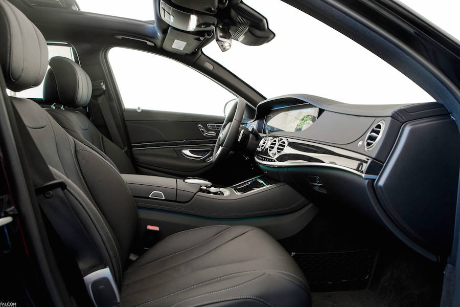 Interior of Mercedes S Class rental