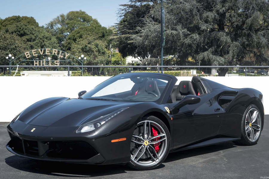 Ferrari 488 Spider Rental