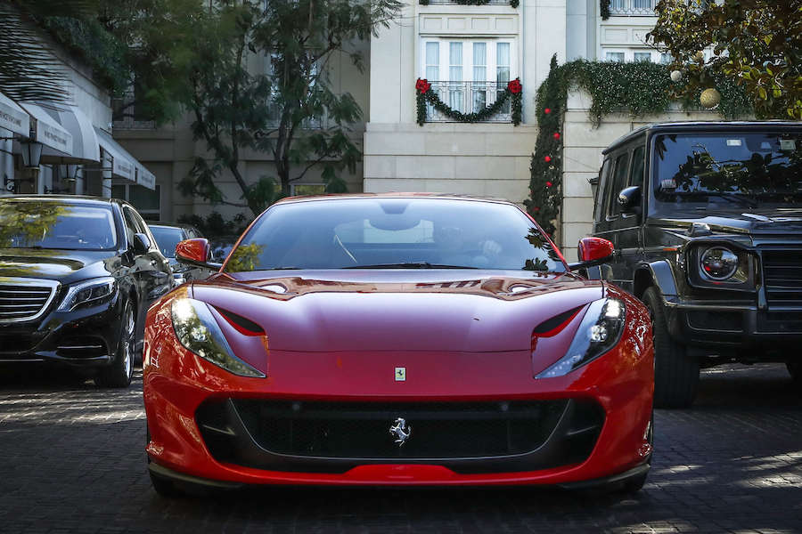 ferrari 812 superfast rental los angeles