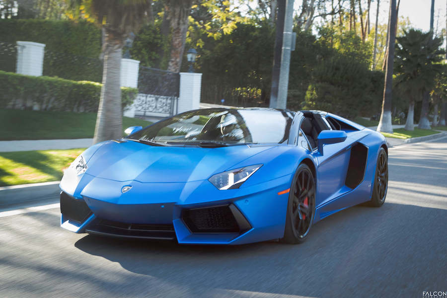 Blue Lamborghini Rental