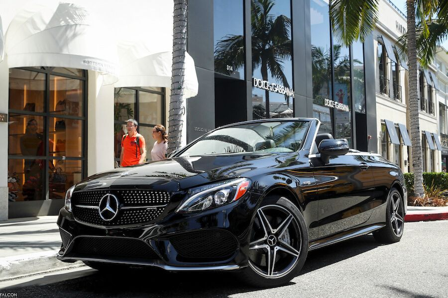 Mercedes C43 Cabriolet rental los angeles