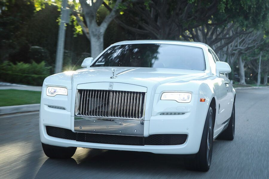 White Rolls Royce Ghost for rent LA